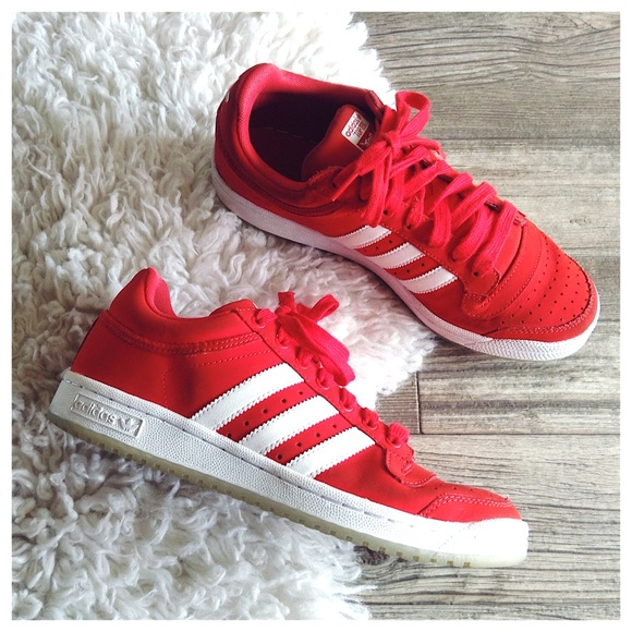 Adidas Top Ten Red & White Low Top Sneakers